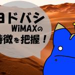 ヨドバシWiMAXのメリットとデメリットについて