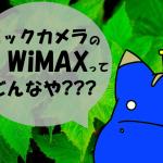 ビックカメラのBIC WiMAXを契約するメリットとデメリット