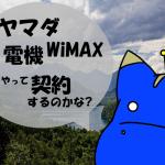 ヤマダ電機WiMAXの支払い方法と契約方法について