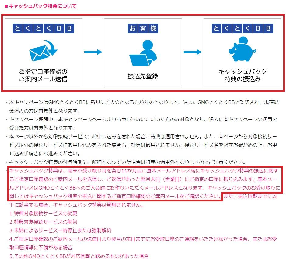 WiMAXマスターとくとくBBWiMAX2016年2月キャッシュバックの受け取り方詳細