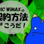 クレジットカード払いのBIC WiMAXの契約方法を紹介