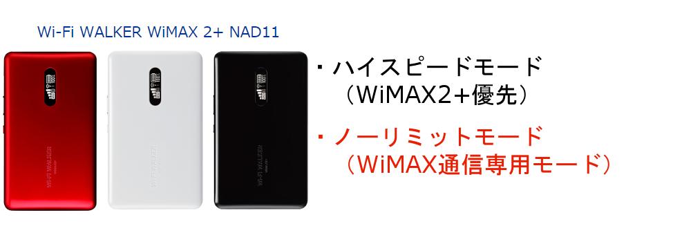 WiMAXマスターNAD11のモード説明