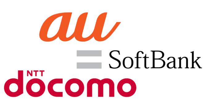 WiMAXマスタードコモauソフトバンクのロゴ2