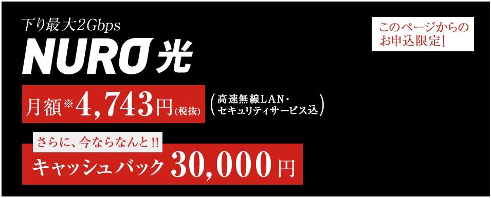 WiMAXマスターNURO光ホームページ画像
