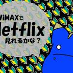 3日3GB制限中のWiMAXでNetflixは視聴できるのか?