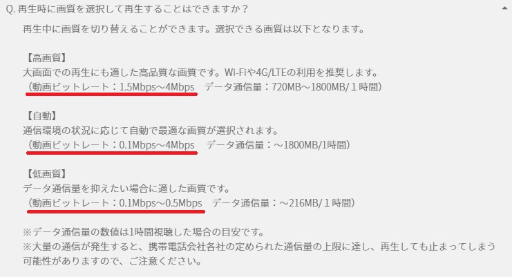 WiMAXマスターU-NEXTユーネクスト動画配信サービス通信量通信速度3日3GB制限推奨速度